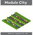 isometric module is area landscape vector image vector image