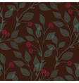 leaves needlework cherry vector image