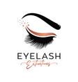 luxury beauty eyelashes logo vector image
