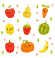 mascot design of cartoon fruits and vector image