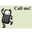 Mobile telephone call me vector image vector image
