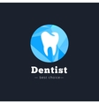 modern polygonal dental clinic logo vector image