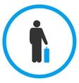 Passenger Baggage Circled Icon vector image vector image