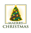 playful merry christmas vector image vector image
