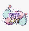 pop art cartoons vector image vector image