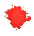 red blot vector image vector image
