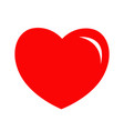 red heart shining icon happy valentines day sign vector image vector image