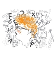 Schoolboy And Education Background vector image