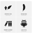 set of 4 editable science icons includes symbols vector image