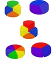 Set of color segmented diagrams vector image