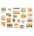set of mothers day sale signs isolated shopping vector image
