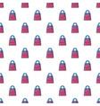 shopping bag pattern seamless vector image vector image