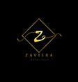 simple elegance initial letter z logo type sign vector image vector image