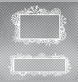 snowflakes frame template set vector image