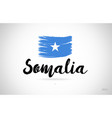 somalia country flag concept with grunge design vector image vector image