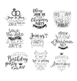 Special Event Hand Drawn Invitation Set vector image