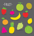 sticker fruit cute cartoon vector image vector image