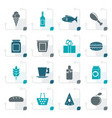 stylized shop food and drink icons vector image vector image