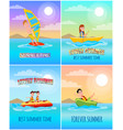 summertime lovely collection vector image vector image