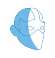 superhero man face male with the mask vector image vector image