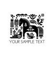 swedish dala horse pattern scandinavian seamless vector image vector image