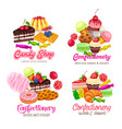 sweets banners vector image vector image