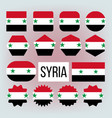 syria various shapes national flags set vector image vector image