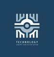 technology business concept logo design marketing vector image
