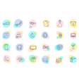 thin line shopping icons vector image