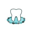 tooth water stones logo vector image