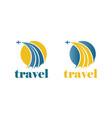 travel plane logo vector image vector image