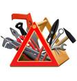 triangular toolbox vector image