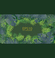 tropical green leaf pattern background vector image vector image