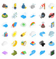 volcano icons set isometric style vector image vector image