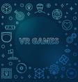 vr games colorful outline frame on dark vector image