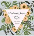 wedding square floral invitation invite card vector image vector image