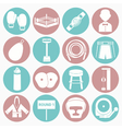 white icons boxing vector image