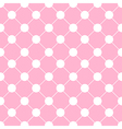 White Polka dot Chess Board Grid Pink vector image vector image