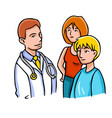 with doctor and patients vector image
