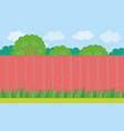 wood fence on backyard vector image vector image