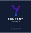 y company logo design with visiting card vector image vector image
