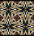 zigzag striped embroidery seamless pattern vector image vector image