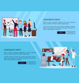 corporate party web page on vector image