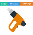 Flat design icon of electric industrial dryer vector image