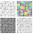 100 tourist attractions icons set variant vector image vector image