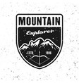 adventure traveling badge with mountains vector image vector image