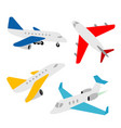 airplane transportation vehicles transport vector image