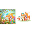 animals explore and hike in forest collection