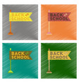 assembly flat shading style icons back to school vector image vector image