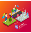 Augmented Reality AR Games Isometric Poster vector image vector image